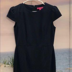 Navy short sleeve dress by Betsy Johnson